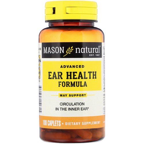 Mason Natural Tinnitus Advanced Ear Health Formula