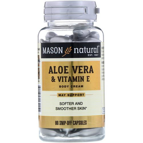 Mason Natural, Aloe Vera & Vitamin E, Body Cream, 60 Snip-Off Capsules Review