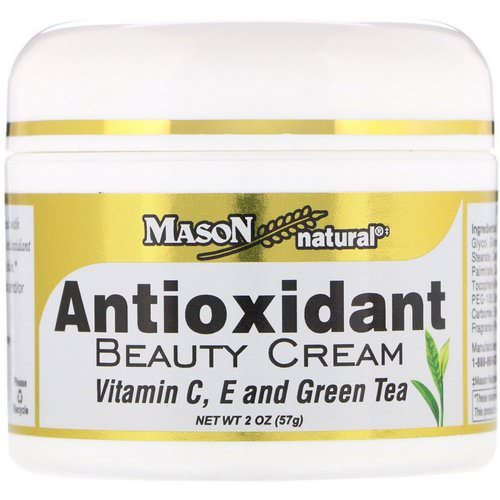 Mason Natural, Antioxidant Beauty Cream with Vitamin C, E, and Green Tea, 2 oz (57 g) Review