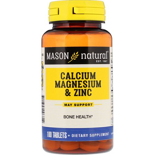 Mason Natural, Calcium Magnesium & Zinc, 100 Tablets Review