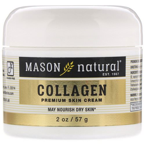 Mason Natural, Collagen Premium Skin Cream, Pear Scented, 2 oz (57 g) Review