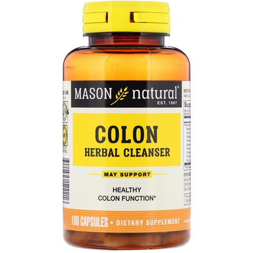 Mason Natural, Colon Herbal Cleanser, 100 Capsules Review