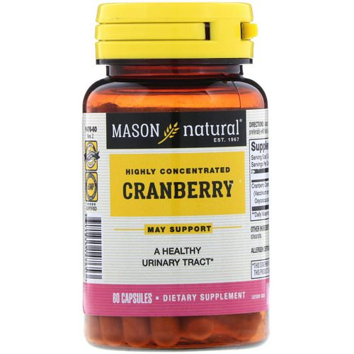 Mason Natural, Cranberry, Highly Concentrated, 60 Capsules Review