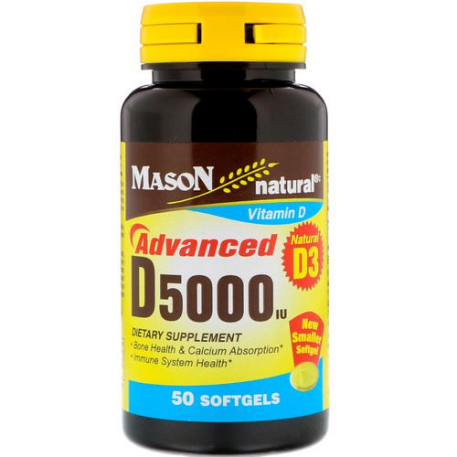 Mason Natural, D5000 IU, 50 Softgels Review