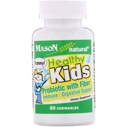 Mason Natural, Healthy Kids Probiotic With Fiber, 60 Chewables Review
