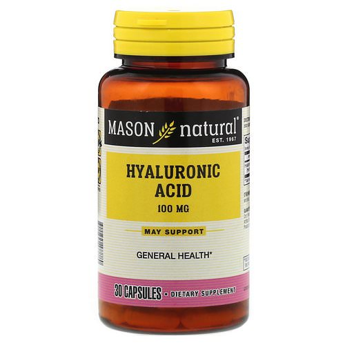 Mason Natural, Hyaluronic Acid, 100 mg, 30 Capsules Review