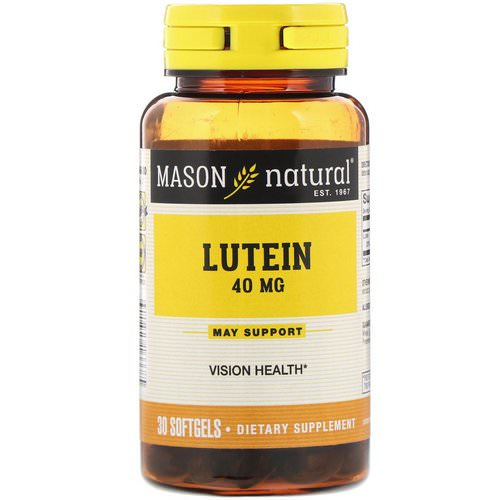 Mason Natural, Lutein, 40 mg, 30 Softgels Review
