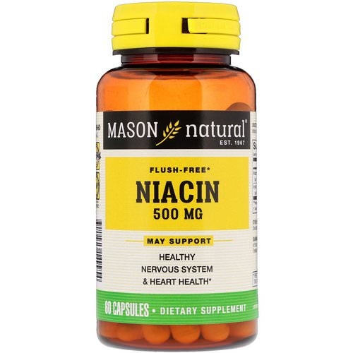 Mason Natural, Niacin, Flush Free, 500 mg, 60 Capsules Review