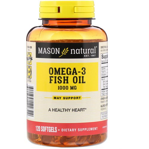Mason Natural, Omega-3 Fish Oil, 1000 mg, 120 Softgels Review