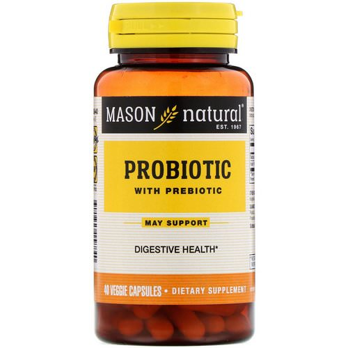 Mason Natural, Probiotic with Prebiotic, 40 Veggie Capsules Review