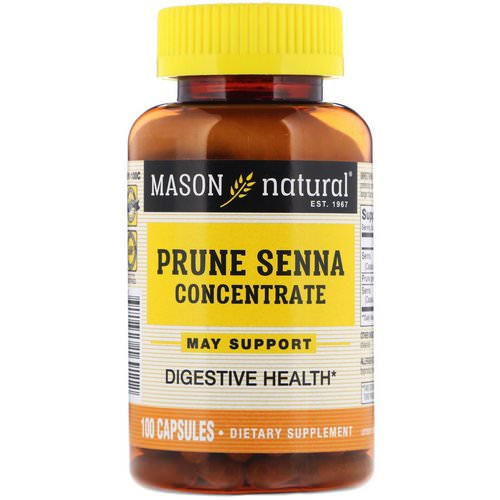 Mason Natural, Prune Senna Concentrate, 100 Capsules Review