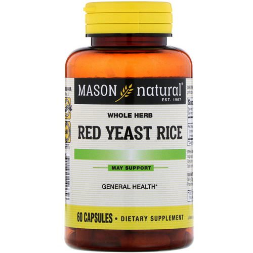 Mason Natural, Red Yeast Rice, 60 Capsules Review