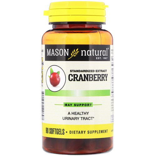 Mason Natural, Standardized Cranberry Extract, 90 Softgels Review