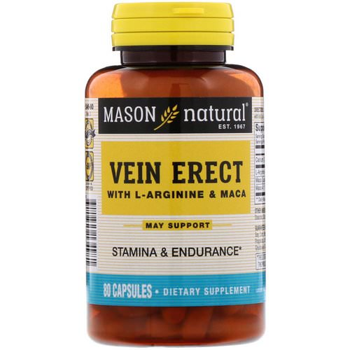 Mason Natural, Vein Erect with L-Arginine and Maca, 80 Capsules Review