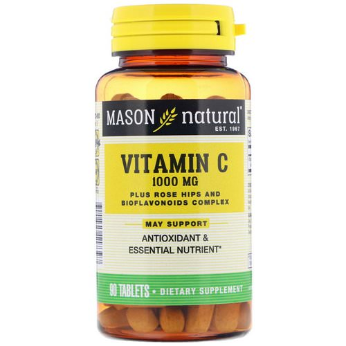 Mason Natural, Vitamin C, 1000 mg, 90 Tablets Review