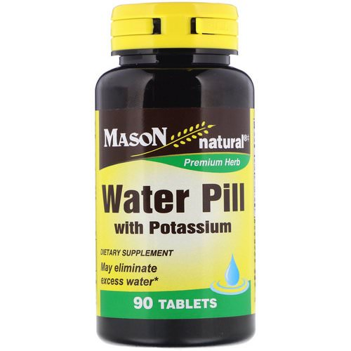 Mason Natural, Water Pill with Potassium, 90 Tablets Review