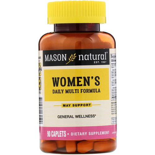 Mason Natural, Women's Daily Multi Formula, 90 Caplets Review