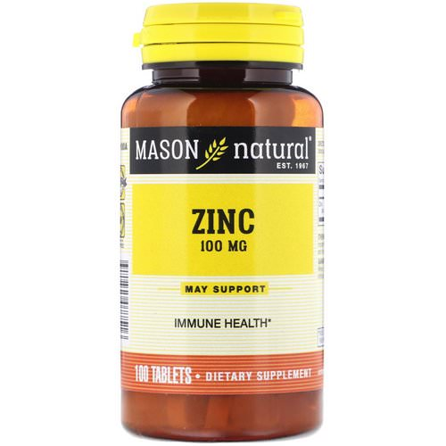 Mason Natural, Zinc, 100 mg, 100 Tablets Review