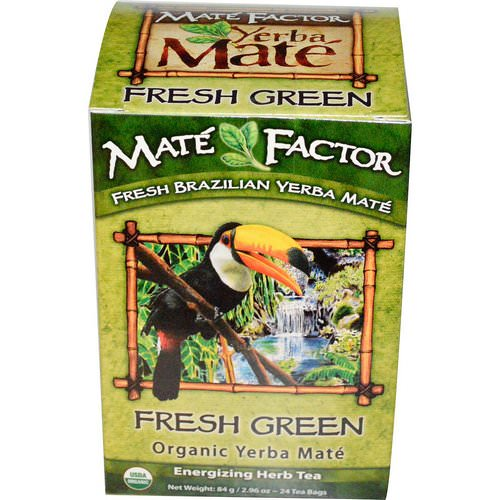 Mate Factor, Organic Yerba Mate, Fresh Green, 24 Tea Bags, 2.96 oz (84 g) Review