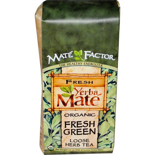 Mate Factor, Organic Yerba Mate, Fresh Green, Loose Herb Tea, 12 oz (340 g) Review