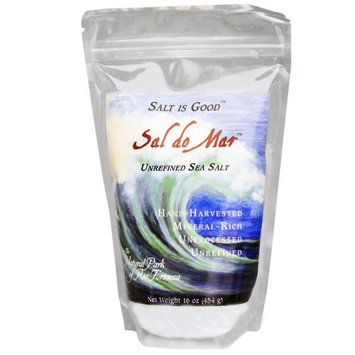 Mate Factor, Sal do Mar, Unrefined Sea Salt, 16 oz (454 g) Review
