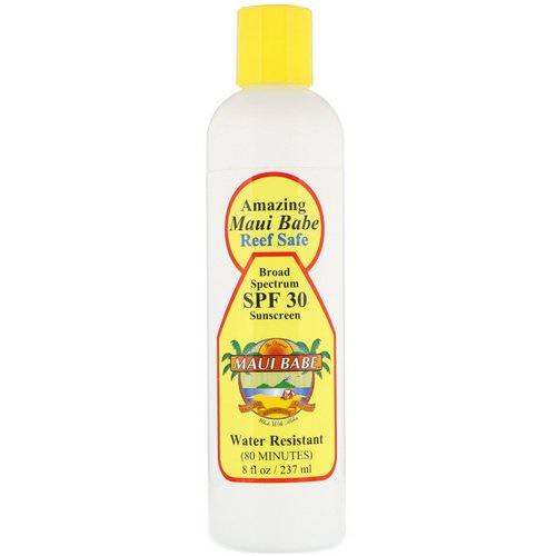 Maui Babe, Amazing Sunscreen, SPF 30, Reef Safe, 8 fl oz (237 ml) Review