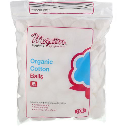 Maxim Hygiene Products, Organic Cotton Balls, 100 Count Review