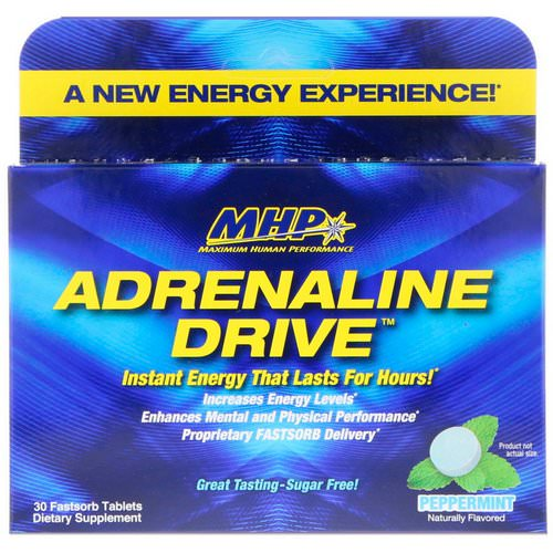 MHP, Adrenaline Drive, Peppermint, 30 Fastsorb Tablets Review