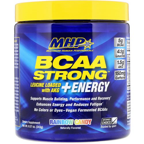 MHP, BCAA Strong + Energy, Rainbow Candy, 8.57 oz (243 g) Review
