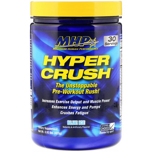 MHP, Hyper Crush, Pre-Workout, Blue Ice, 0.93 lbs (423 g) Review