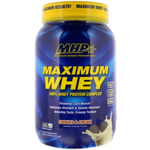 MHP, Maximum Whey, Cookies & Cream, 2.02 lbs (917.5 g) Review