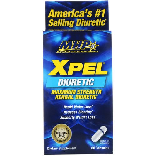 MHP, Xpel, Maximum Strength Herbal Diuretic, 80 Capsules Review