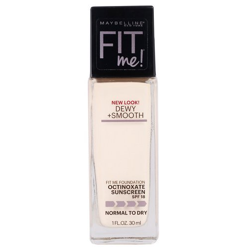 Maybelline, Fit Me, Dewy + Smooth Foundation, 110 Porcelain, 1 fl oz (30 ml) Review