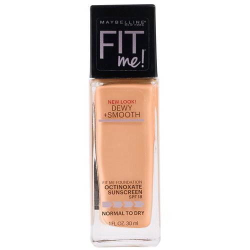 Maybelline, Fit Me, Dewy + Smooth Foundation, 240 Golden Beige, 1 fl oz (30 ml) Review
