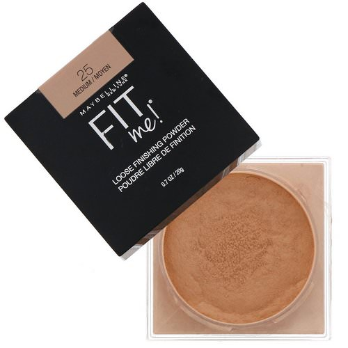 Maybelline, Fit Me, Loose Finishing Powder, 25 Medium, 0.7 oz (20 g) Review