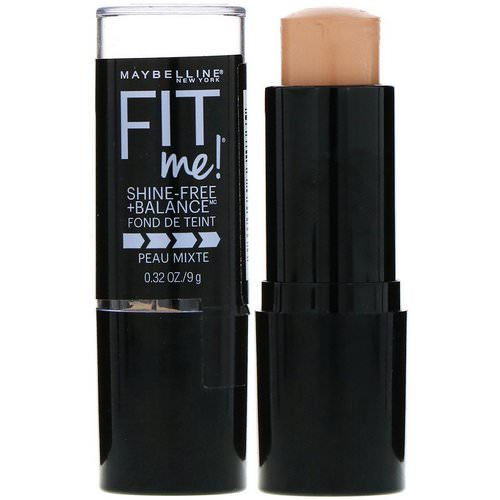 Maybelline, Fit Me, Shine-Free + Balance Stick Foundation, 130 Buff Beige, 0.32 oz (9 g) Review