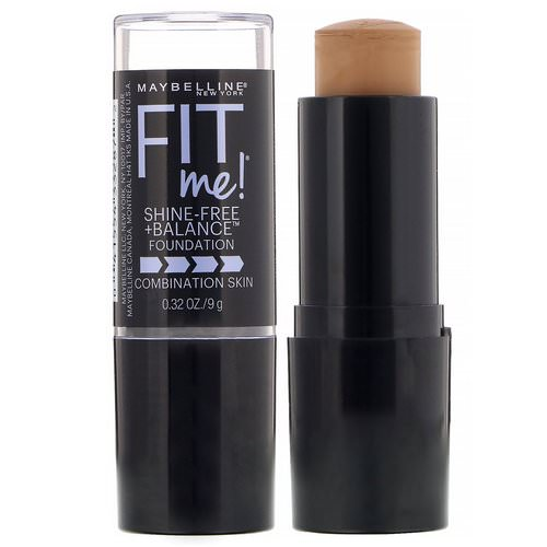 Maybelline, Fit Me, Shine-Free + Balance Stick Foundation, 330 Toffee, 0.32 oz (9 g) Review