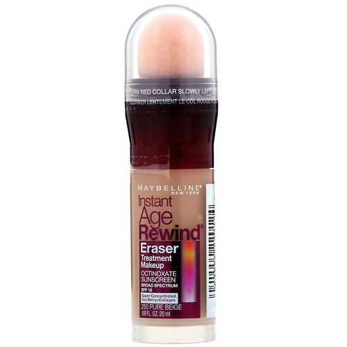 Maybelline, Instant Age Rewind, Eraser Treatment Makeup, 250 Pure Beige, 0.68 fl oz (20 ml) Review