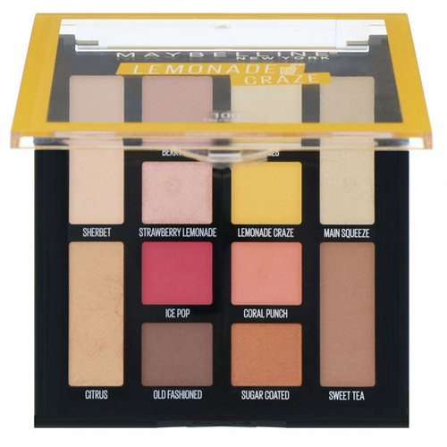 Maybelline, Lemonade Craze Eyeshadow Palette, 0.26 oz (7.4 g) Review