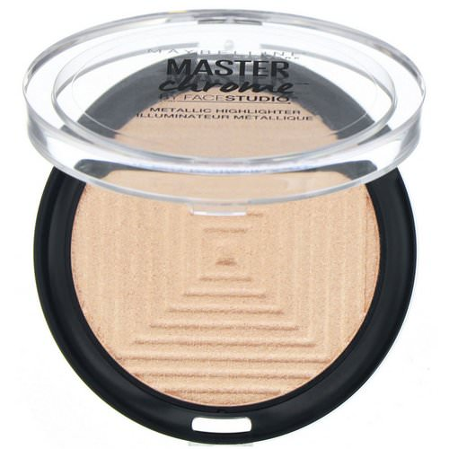 Maybelline, Master Chrome, Metallic Highlighter, Molten Gold 100, 0.24 oz (6.7 g) Review