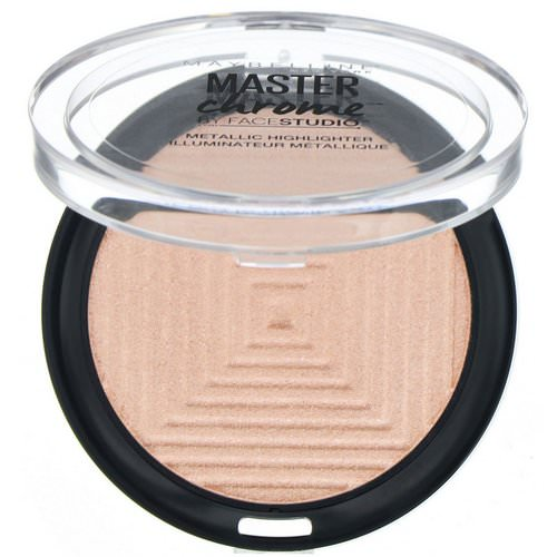 Maybelline, Master Chrome, Metallic Highlighter, Molten Rose Gold 050, 0.24 oz (6.7 g) Review