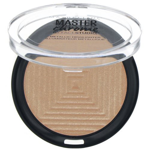 Maybelline, Master Chrome, Metallic Highlighter, Molten Topaz 200, 0.24 oz (6.7 g) Review