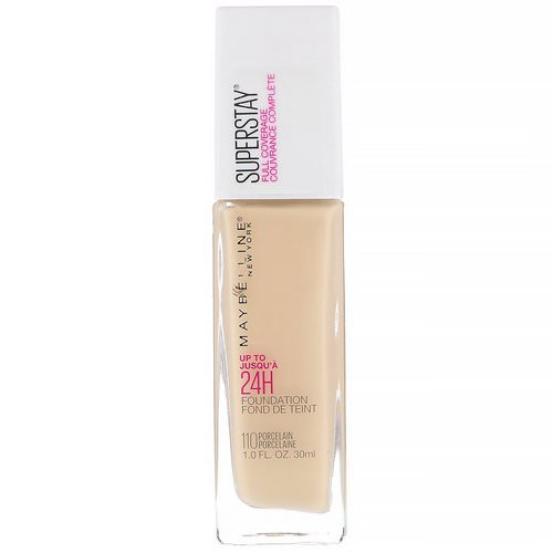 Maybelline, Super Stay, Full Coverage Foundation, 110 Porcelain, 1 fl oz (30 ml) Review
