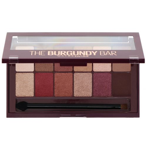 Maybelline, The Burgundy Bar Eyeshadow Palette 200, 0.33 oz (9.6 g) Review