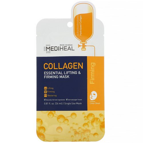 Mediheal, Collagen, Essential Lifting & Firming Mask, 1 Sheet, 0.81 fl oz (24 ml) Review