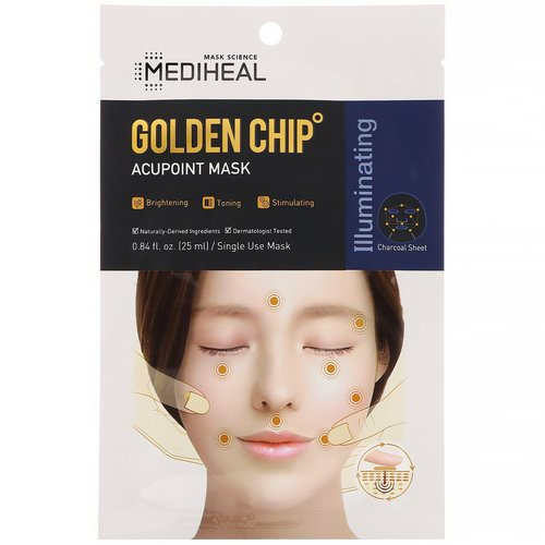 Mediheal, Golden Chip, Acupoint Mask, 1 Sheet, 0.84 fl oz (25 ml) Review