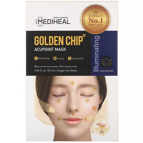 Mediheal, Golden Chip, Acupoint Mask, 5 Sheets, 0.84 fl oz (25 ml) Each Review