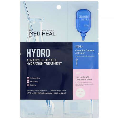 Mediheal, Hydro, Advanced Capsule Hydration Treatment Mask, 1 Sheet, 0.77 fl oz (23 ml) Review