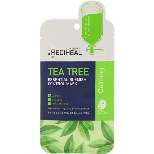 Mediheal, Tea Tree, Essential Blemish Control Mask, 1 Sheet, 0.81 fl oz (24 ml) Review