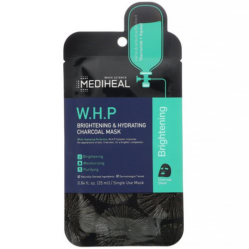 Mediheal, W.H.P, Brightening & Hydrating Charcoal Mask, 1 Sheet, 0.84 fl oz (25 ml) Review